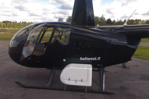 Robinson Helicopter With Camera Pod